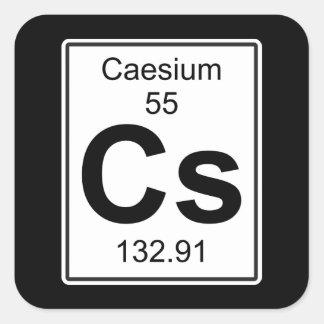 Cs - Caesium Square Sticker