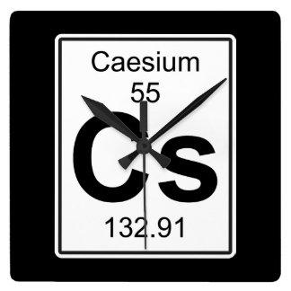 Cs - Caesium Square Wall Clock