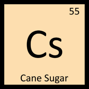 Table sugar clothing zazzle cs cane sugar chemistry periodic table symbol t shirt urtaz Image collections