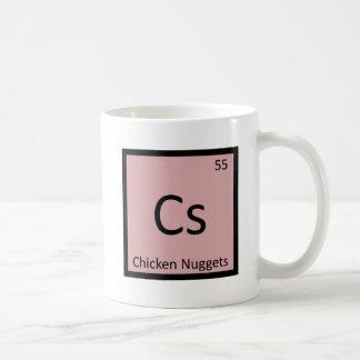 Cs - Chicken Nuggets Appetizer Chemistry Symbol Coffee Mug