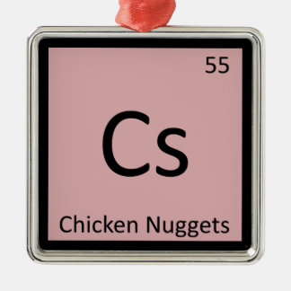 Cs - Chicken Nuggets Appetizer Chemistry Symbol Christmas Tree Ornament