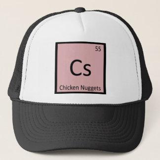 Cs - Chicken Nuggets Appetizer Chemistry Symbol Trucker Hat