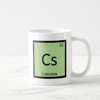 Cs - Coleslaw Chemistry Periodic Table Symbol Coffee Mug