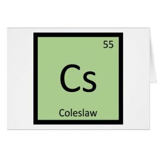 Cs - Coleslaw Chemistry Periodic Table Symbol Greeting Card