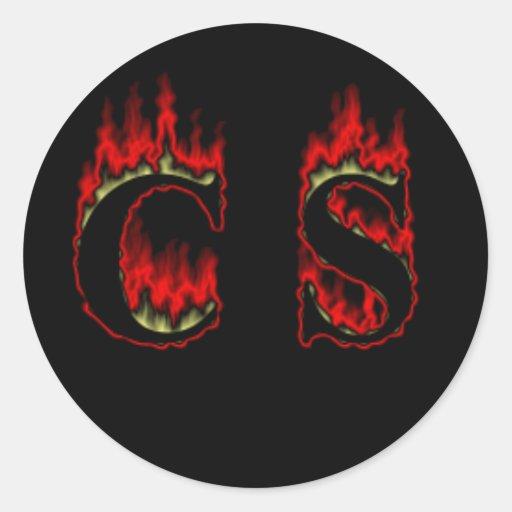 CS Flame big Sticker