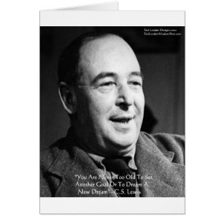 """CS Lewis """"Aging Dreams"""" Wisdom Quote Gifts Greeting Card"""
