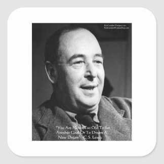 """CS Lewis """"Aging Dreams"""" Wisdom Quote Gifts Stickers"""