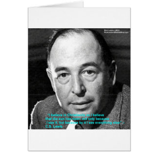 """CS Lewis """"Being Christian"""" Wisdom Quote Gifts Greeting Cards"""