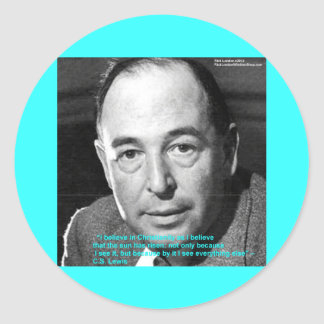 "CS Lewis ""Being Christian"" Wisdom Quote Gifts Classic Round Sticker"