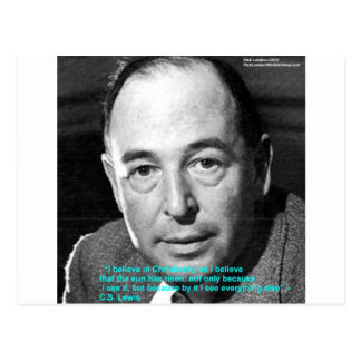 """CS Lewis """"Being Christian"""" Wisdom Quote Gifts Postcard"""