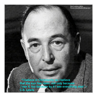 """CS Lewis """"Being Christian"""" Wisdom Quote Poster by"""