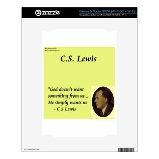 """CS Lewis """"God Wants You"""" Quote Decal For The NOOK"""