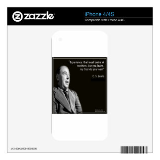 """CS Lewis """"My God"""" Quote Skin For iPhone 4S"""