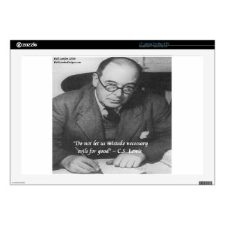 CS Lewis & Necessary Evil Quote Decal For Laptop