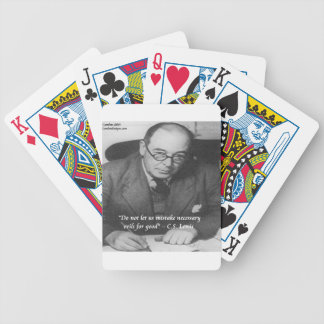 CS Lewis & Necessary Evil Quote Bicycle Playing Cards
