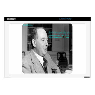 "CS Lewis & ""Other Worlds"" Quote 17"" Laptop Skin"