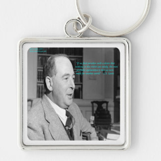 """CS Lewis & """"Other Worlds"""" Quote Keychain"""