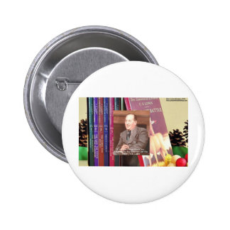 """CS Lewis """"Road 2 Nowhere"""" Quote Wisdom Gifts Etc Pinback Button"""