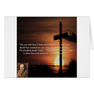 CS Lewis W/Christian-Theme & Quote Gifts & Tees Greeting Cards