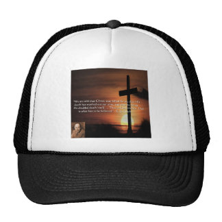 CS Lewis W/Christian-Theme & Quote Gifts & Tees Trucker Hat