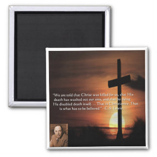 CS Lewis W/Christian-Theme & Quote Gifts & Tees Refrigerator Magnets