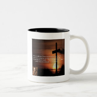 CS Lewis W/Christian-Theme & Quote Gifts & Tees Two-Tone Coffee Mug