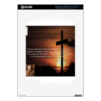 CS Lewis W/Christian-Theme & Quote Gifts & Tees Skins For iPad 3