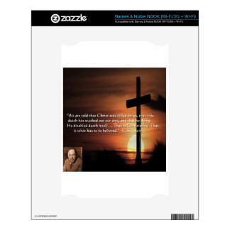 CS Lewis W/Christian-Theme & Quote Gifts & Tees Skins For The NOOK