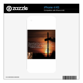 CS Lewis W/Christian-Theme & Quote Gifts & Tees Decal For iPhone 4S