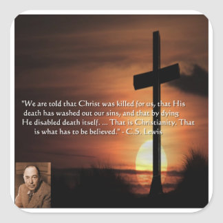 CS Lewis W/Christian-Theme & Quote Gifts & Tees Stickers