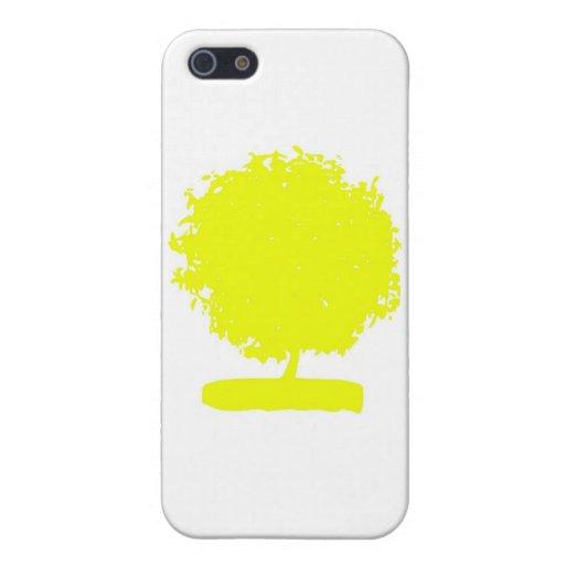 CsA004: Árbol amarillo extraño iPhone 5 Cobertura
