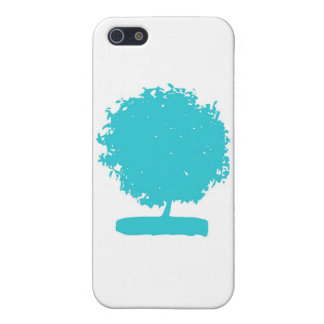 CsA004a:  Árbol azul iPhone 5 Funda