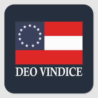 CSA 1st National (Deo Vindice) Square Sticker