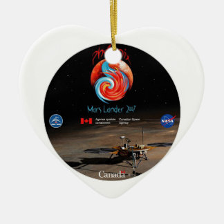 CSA and the Phoenix Lander Ceramic Ornament