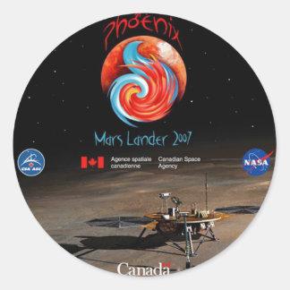 CSA and the Phoenix Lander Classic Round Sticker