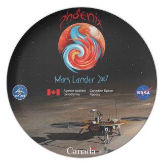 CSA and the Phoenix Lander Dinner Plate