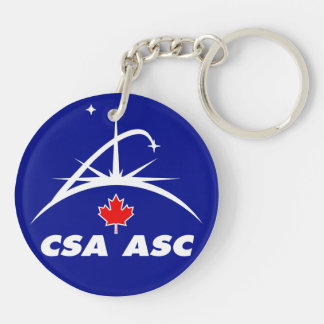 CSA and the Phoenix Lander Double-Sided Round Acrylic Keychain