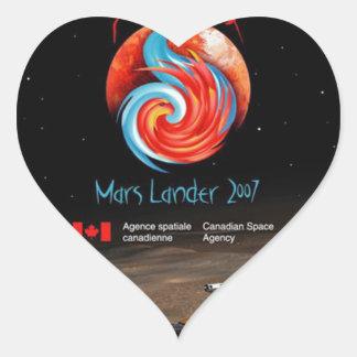 CSA and the Phoenix Lander Heart Sticker