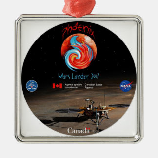 CSA and the Phoenix Lander Metal Ornament