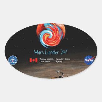 CSA and the Phoenix Lander Oval Sticker