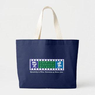 CSA Color Logo on Blue Tote Jumbo Tote Bag
