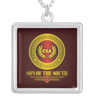 CSA -Son of the South Square Pendant Necklace