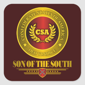 CSA -Son of the South Square Sticker