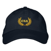 CSA with laurel (Embroidered) Embroidered Baseball Hat