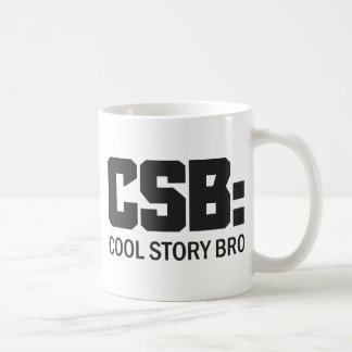 CSB: Historia fresca Bro Taza Básica Blanca