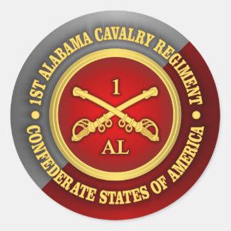 CSC -1st Alabama Cavalry Classic Round Sticker