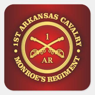 CSC -1st Arkansas Cavalry Square Sticker