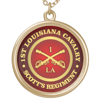 CSC -1st Louisiana Cavalry Gold Plated Necklace