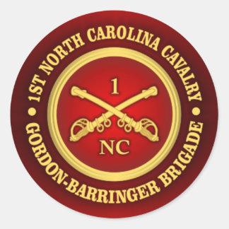 CSC -1st North Carolina Cavalry Classic Round Sticker