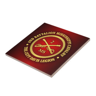CSC -2nd Battalion Mississippi Cavalry Tile